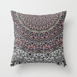 Pastel colors mandala Sophisticated ornament Throw Pillow