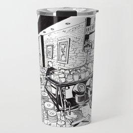 The coffeecup board cafe Travel Mug