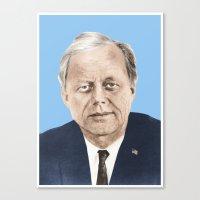 jfk Canvas Prints featuring JFK by Javier Jaen