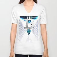 scotland V-neck T-shirts featuring bitcoin scotland by seb mcnulty