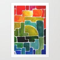 the maze runner Art Prints featuring Maze Runner by Lara Nicholls
