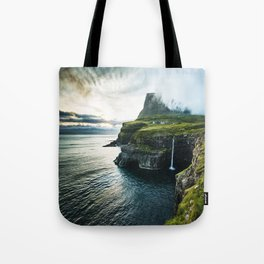 waterfall at faroe Tote Bag
