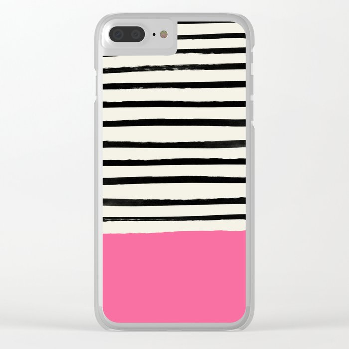 Watermelon & Stripes Clear iPhone Case