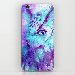 purple owl iPhone Skin