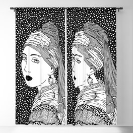Vermeer - Girl with a pearl earring Blackout Curtain
