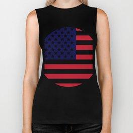 flag of the united states Biker Tank