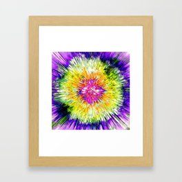 Textured Retro Tie Dye Framed Art Print