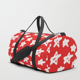 Stars on red background Duffle Bag