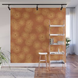 Orange Nasturtium Seamless Patten Wall Mural