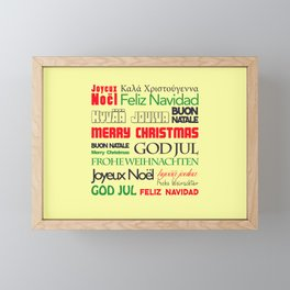 merry christmas in different languages I Framed Mini Art Print