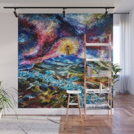Lighthouse Landscape Wall Mural