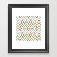 Sketchy Diamond IKAT Framed Art Print