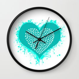 Cat Love Wall Clock