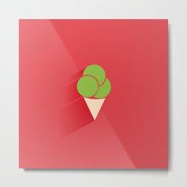 Ice Cream Cone Metal Print
