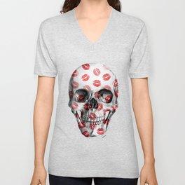Kisses Skull Unisex V-Neck