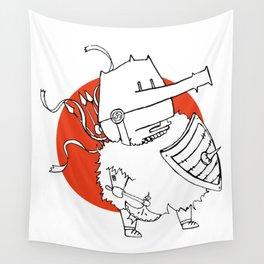 Hack It - Warrior Illustration Wall Tapestry