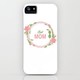 Happy Mothers Day Message Best Mom Grandma Gift iPhone Case