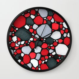 Red and Gray Wall Clock