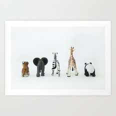 ANIMALS BACKS Art Print