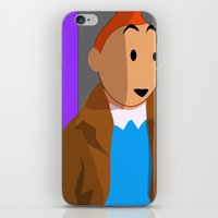 tintin iPhone & iPod Skins featuring Tintin, the young reporter by DocPastor