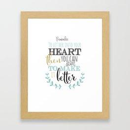 Hey Jude lyrics #2 Framed Art Print