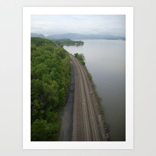 Train Tracks ... Art Print
