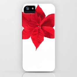 December Poinsettia Botanist Or Gardener Gift iPhone Case