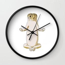 Meditating Leopard Gecko Wall Clock