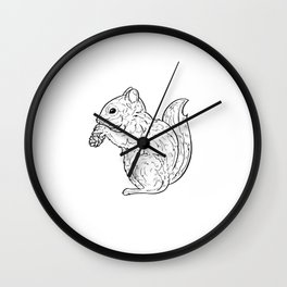 Squirrel Whisperer Wall Clock