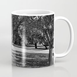 Black and white forest landscape Coffee Mug