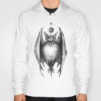 bat Hoodies featuring Bat by Ulla Thynell