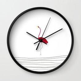Flamingo Flying Solo Wall Clock