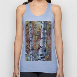 Aspen Trees Panorama Unisex Tank Top