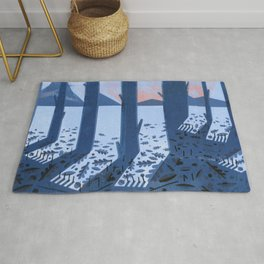 Search for Sasquatch Rug