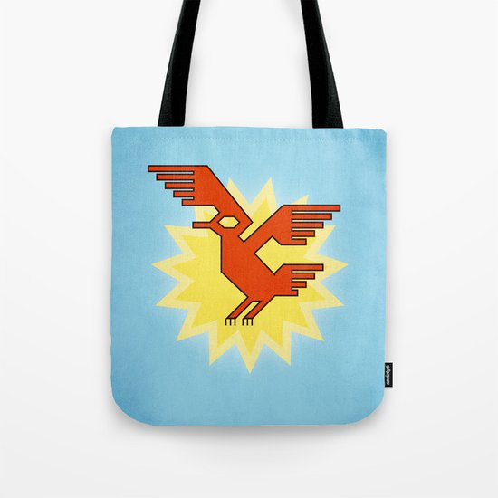 Geometric Andean Condor Bird Tote Bag