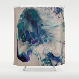 Wild Stallion- Abstract Acrylic Art By Fluid Nature Shower Curtain
