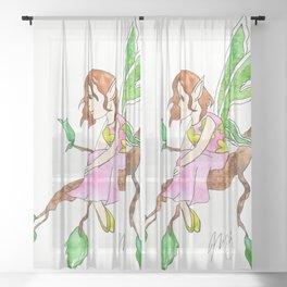 Rosa the Little  Fairy Sheer Curtain