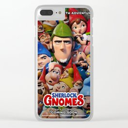 Sherlock Gnomes poster Clear iPhone Case