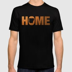 Arkansas home state faux copper foil print Black MEDIUM Mens Fitted Tee