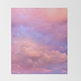 See the Dawn (Dawn Clouds Abstract) Throw Blanket