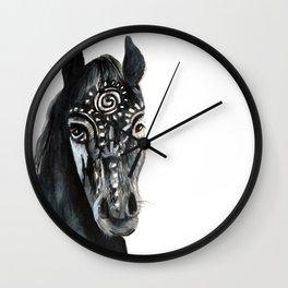 Shadow Wild Heart Horse Wall Clock