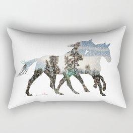 Autumn Horses Rectangular Pillow