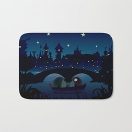 Hedgehogs in the night Bath Mat