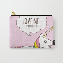 Valentine's Day - Love Me Unicorn Carry-All Pouch