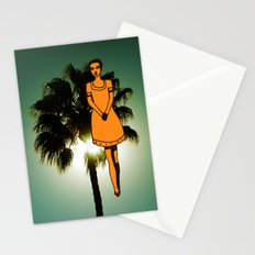 palm tree girl  Stationery Cards