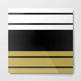 Team Colors 9... black and gold Metal Print