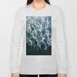 Minimalistic Veins in a Wave  - Seascape Photography Long Sleeve T-shirt