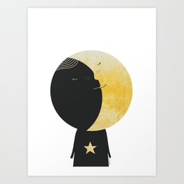 The day I kissed the Moon Art Print