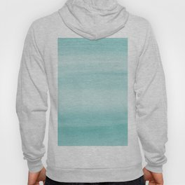 Touching Aqua Blue Watercolor Abstract #2 #painting #decor #art #society6 Hoody