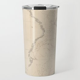 Vintage Map of Tampa Bay FL (1855) Travel Mug